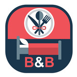 vector flat emblem for bed and breakfast business - 186819561