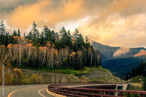 Foto op Canvas Natuur A beautiful valley near Sounkyo gorge, Hokkaido, Japan