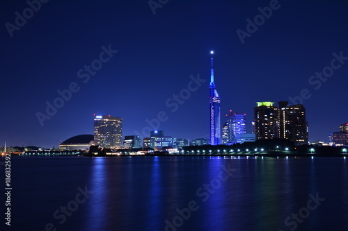 Staande foto Shanghai 福岡市の夜景