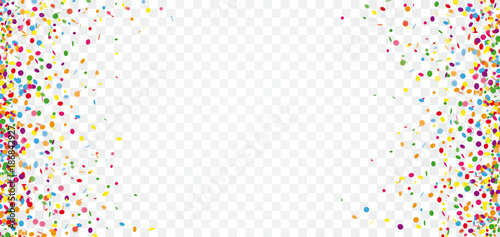 Colored Confetti Transparent Header - 186842927