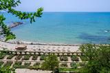 Promenade on the Black Sea coast in Balchik, Bulgaria - 186847354