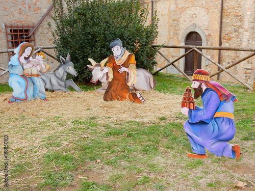 Deurstickers Toscane presepe e remagi