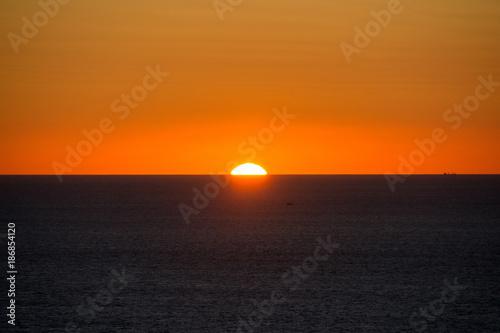 Poster Oranje eclat Coucher de soleil à Cabo da Roca