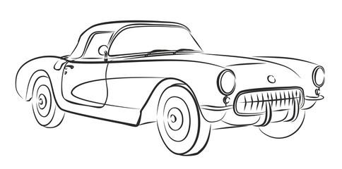 Retro car Sketch.