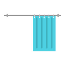 Shower Curtain Color Flat Sticker