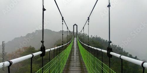 A bridge in the rain