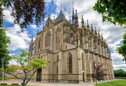 St. Barbara church in Kutna Hora, Czech republic - 186873764