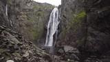 Voringfossen Waterfall during overcast fall / autumn in Norway - 186878537