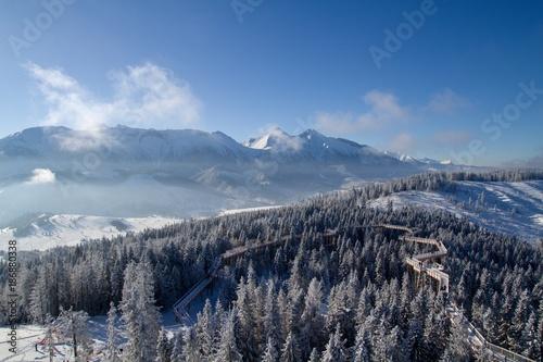 Foto Murales winter in the High Tatras, Slovakia