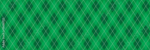 Zielony Argyle Banner Tło