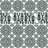 Seamless ornaments in Peruvian style. Black pattern on a white background.