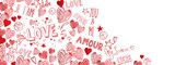 Fototapety Love doodles background