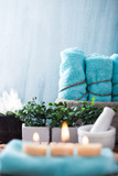 Spa setting in blue - 186903939
