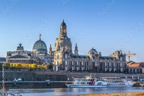 Foto Murales view of Bruhl Terrace, Dresden, Germany