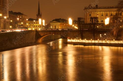 Papiers peints Ponts Winterzeit Stockholm Weihnachten