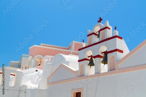 Aluminium Santorini Architecture of Oia village on Santorini island, Greece