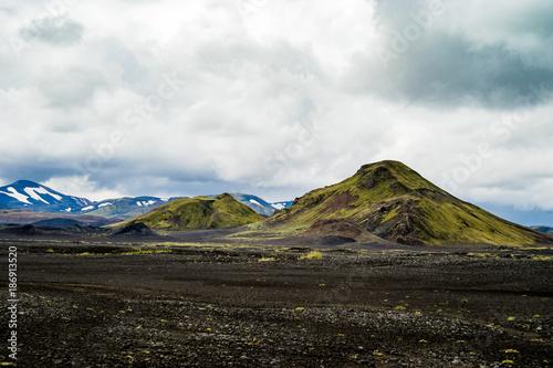Fotobehang Zwart Fjallabaksleið Nyrðri