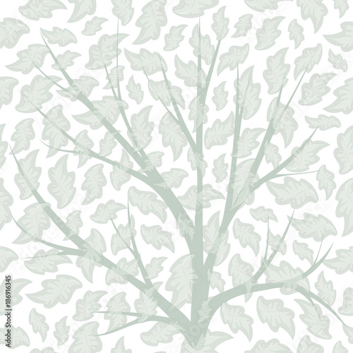 Seamless pattern with petals, branches. Vector eps10. For background design, fabric. Pastel tone. - 186916345
