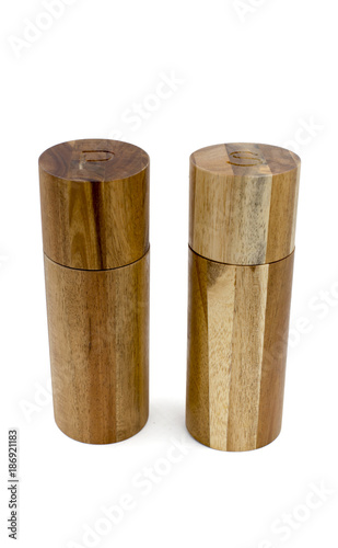 Wooden salt and pepper