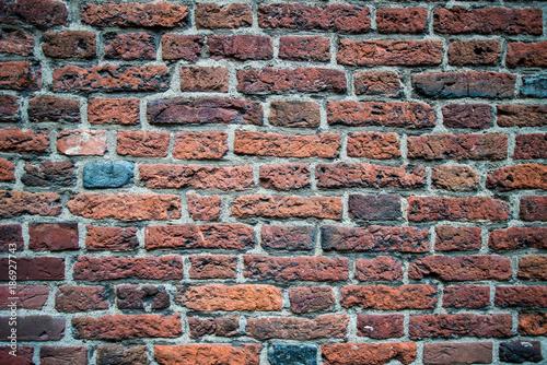 In de dag Baksteen muur old red brick wall texture background