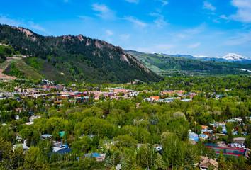 Aerial view of Aspen Colorado