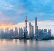shanghai skyline with morning glow - 186936557