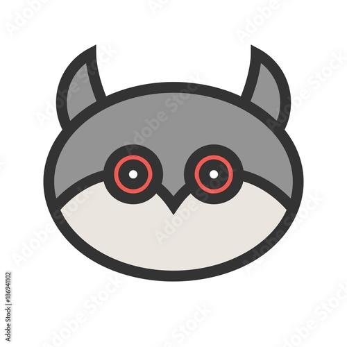 Keuken foto achterwand Uilen cartoon Owl face Icon