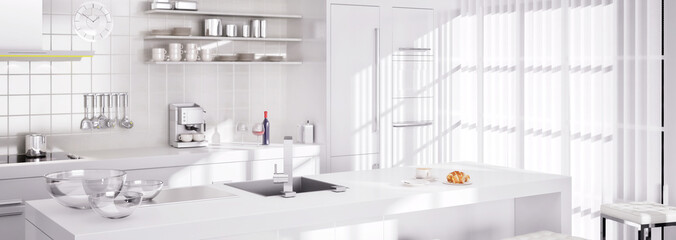 White Kitchen II (panoramisch)