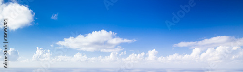 Wide panoramic blue sky background