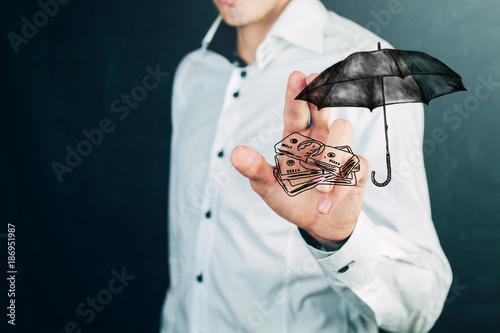 Safety concept: Money And Umbrella