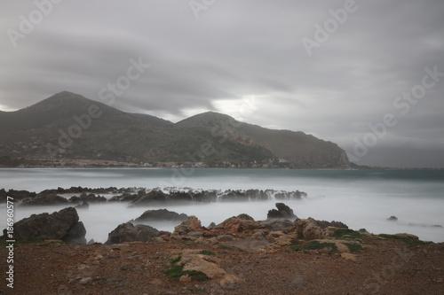 Fotobehang Palermo Paesaggio marino invernale