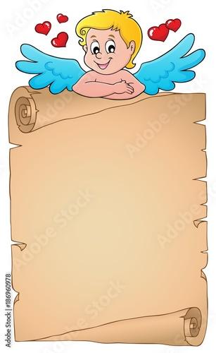 Deurstickers Voor kinderen Cupid topic parchment 1