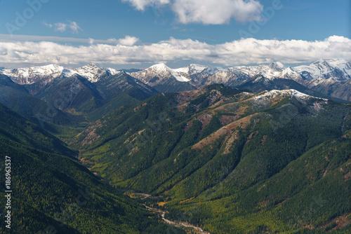 Fotobehang Blauwe jeans Glacier National Park
