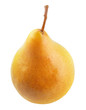 yellow pear isolated on a white background