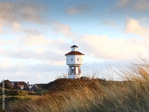 Aluminium Noordzee Dünenlandschaft auf Insel Langeoog, Nordfriesische Inseln