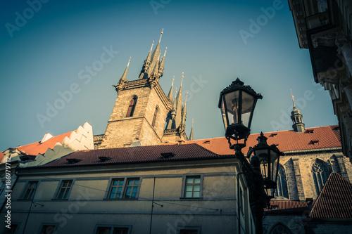 Zeltnergasse in Prag, Tschechische Republik Poster