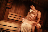 Couple In The Sauna - 186983508