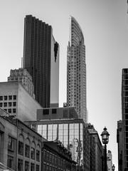 Low angle view of skyscrapers, Scotia Plaza, Toronto, Ontario, Canada