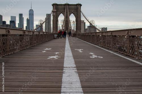Fotobehang Brooklyn Bridge New York City - Brookly Bridge