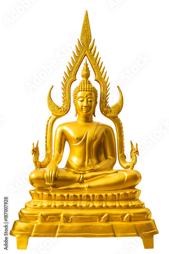Fotobehang Boeddha Buddha Chinnarat on white background, Wat Phra That Doi Suthep