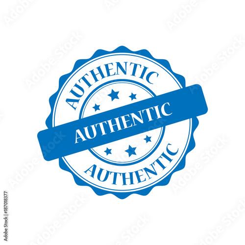 Authentic blue stamp illustration