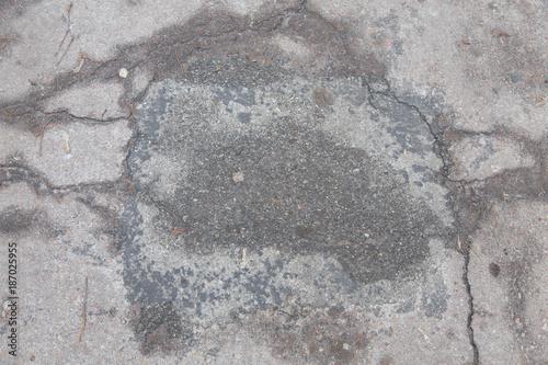 In de dag Stenen texture cracked gray asphalt