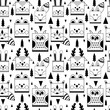Pattern with forest animals 2. - 187030312