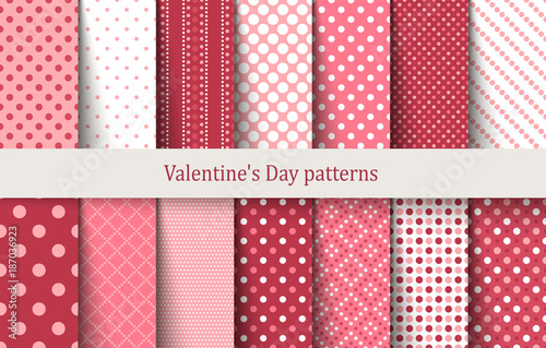Valentine's Day patterns - 187036923