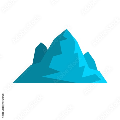 Foto op Canvas Wit Iceberg icon. Flat illustration of iceberg vector icon isolated on white background