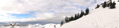 Fotobehang Panoramafoto s Alpen Gipfel Panorama Walsertal