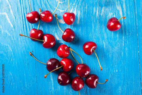 Foto Murales Fresh red cherry