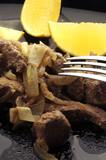 Fegato alla veneziana Cucina italiana Italienische Küche Итальянская кухня Italian cuisine イタリア料理 مطبخ إيطالي - 187061712