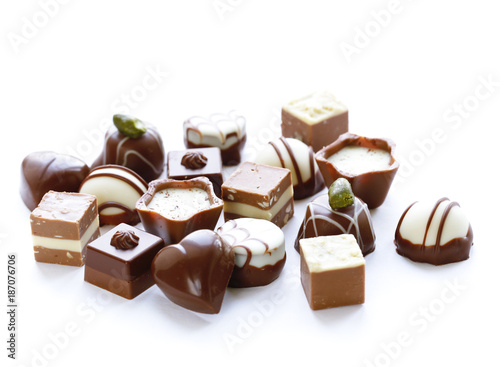 assorted chocolates candies for dessert and treats