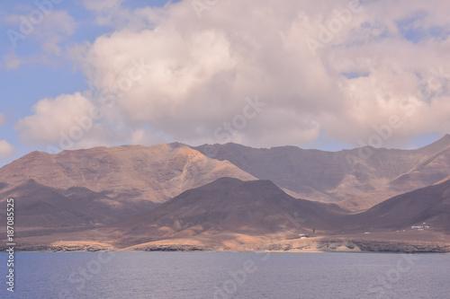 Landscape in Tropical Volcanic Canary Islands Spain - 187085525